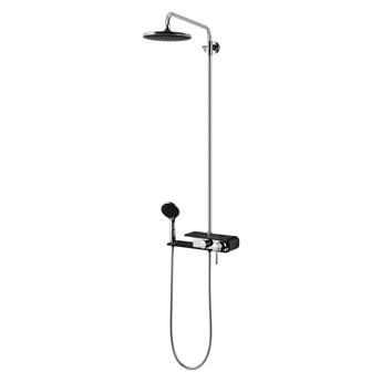 Kolumna prysznicowa Corsan Klar Fiber CMN002 gwiezdna szarość / czarna / biała, Czarny