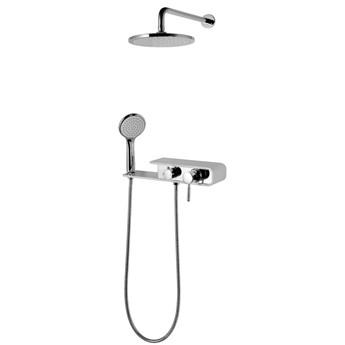 Prysznicowy zestaw podtynkowy Corsan CMN001 Konekto biały / czarny / szary, Szary