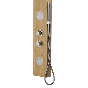 Panel prysznicowy Corsan Bali B231 bambus czarny / chrom, termostat / mieszacz, Chrom / Termostat