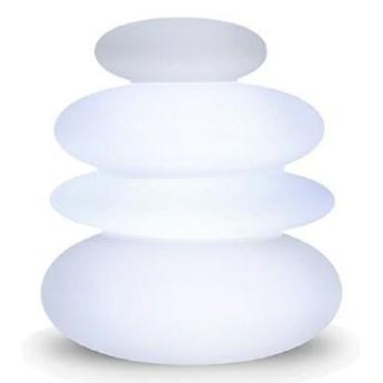 NEW GARDEN lampa ogrodowa BALANS B biała - LED, wbudowana bateria