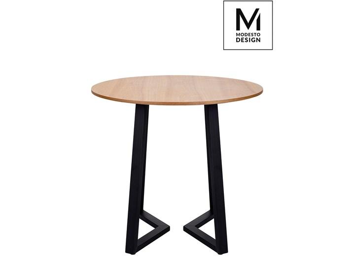 MODESTO stół TAVOLO FI 80 dąb - blat MDF, podstawa metalowa Drewno Płyta MDF Kształt blatu Okrągły Kategoria Stoły kuchenne