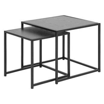 ACTONA zestaw stolików SEAFORD czarne - MDF, metal