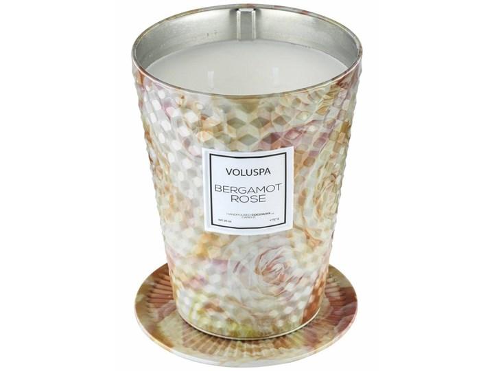 VOLUSPA świeca BERGAMOT ROSE  GIANT 737G - wosk kokosowy , dwa knoty Metal Świeca zapachowa Kategoria Świeczniki i świece