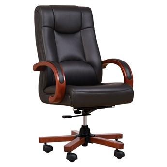 Fotel skórzany Lider, czarny