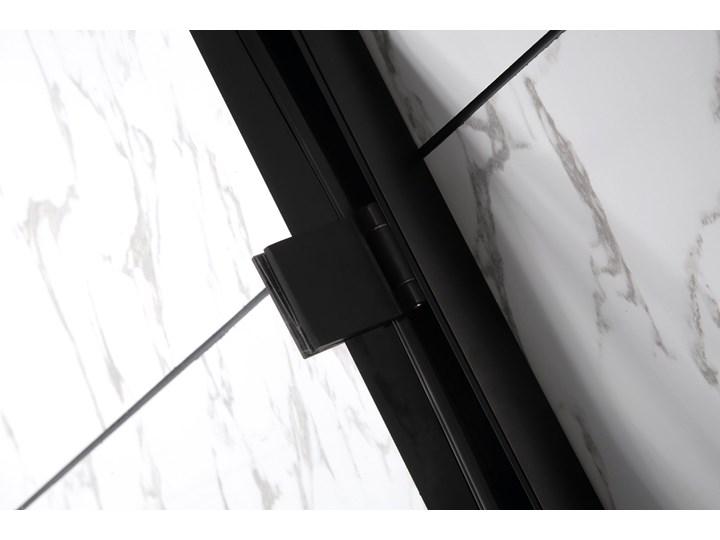 czarna kabina ścianka prysznicowa kratka 90x90cm Wysokość 190 cm Narożna Szerokość 90 cm Kategoria Kabiny prysznicowe
