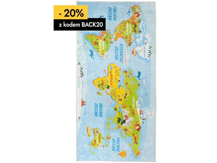 Dywan Dziecięcy Mapa 80 x 150 cm 80x150 cm Poliester Dywany Wzór Zwierzęcy