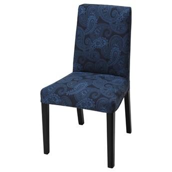IKEA BERGMUND Pokrycie krzesła, Kvillsfors ciemnoniebieski/niebieski