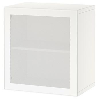 IKEA BESTÅ Kombinacja szafek ściennych, Biały/Mörtviken biały, 60x42x64 cm