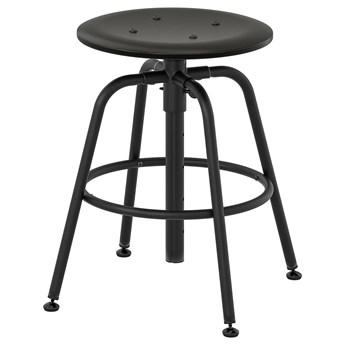 IKEA KULLABERG Stołek, Czarny, Przetestowano dla: 110 kg