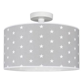 Lampa sufitowa Stelo szara w białe gwiazdki E27 Spot-Light