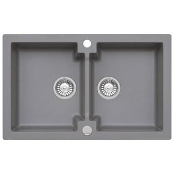 Zlewozmywak granitowy MOJITO 160 szary metalik (50)