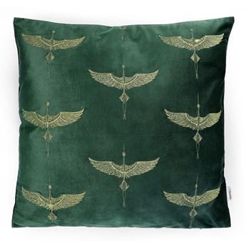 CRANE Poszewka dekoracyjna z haftem zielona 45x45 cm - Homla