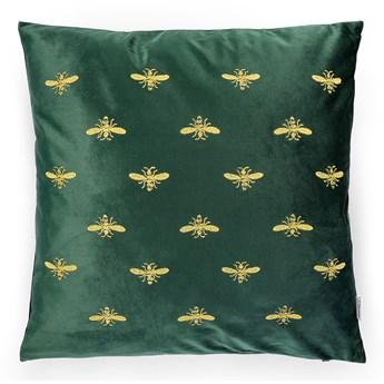 BEE Poszewka dekoracyjna z haftem zielona 45x45 cm - Homla