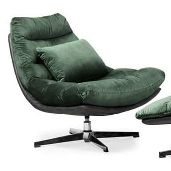 Fotel obrotowy MUTTO z podnóżkiem/ zielony velvet