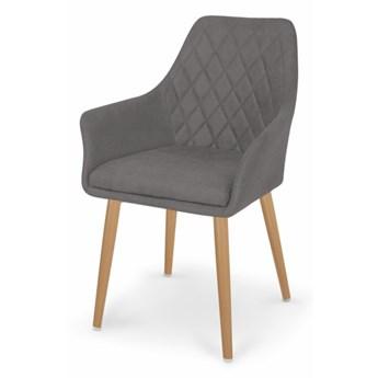 SELSEY Krzesło tapicerowane Moita tkanina popielate