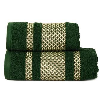 Ręcznik LIONEL 002  ciemno zielony butelkowy 70x140