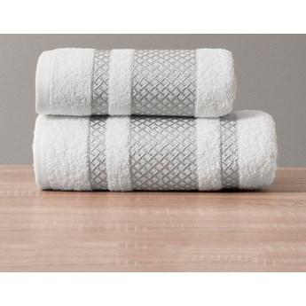 Ręcznik LIONEL 102 biały ze srebrną bordiurą 50x90