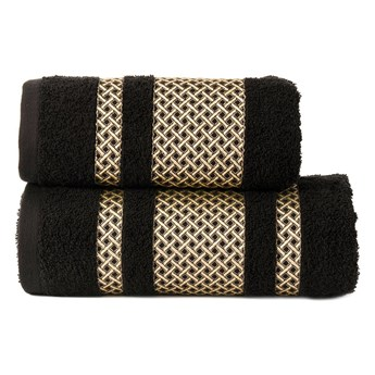 Ręcznik LIONEL 256 czarny ze złotą bordiurą 50x90