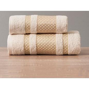 Ręcznik LIONEL 783 kremowy ze złotą bordiurą 50x90
