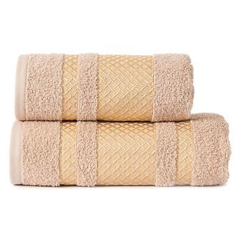 Ręcznik LIONEL 790 beżowy ze złotą bordiurą 70x140