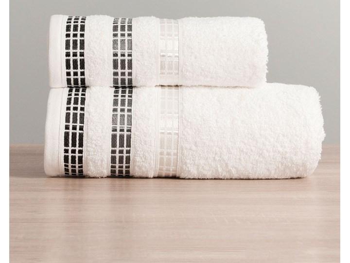 Ręcznik LUXURY 102 biały z bordiurą 50x90 Bawełna Komplet ręczników Frotte Ręcznik kąpielowy 50x90 cm Kategoria Ręczniki
