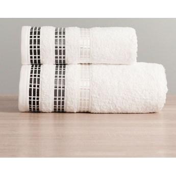 Ręcznik LUXURY 102 biały z bordiurą 70x140
