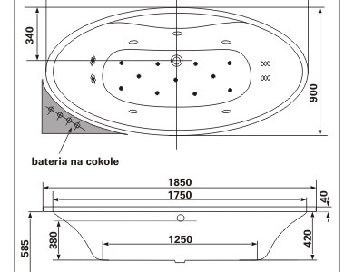 Excellent Oval wanna owalna z hydromasażem Optima Aqua - odbiór osobisty: Kraków, Warszawa, Świebodzin, Katowice, Tarnów