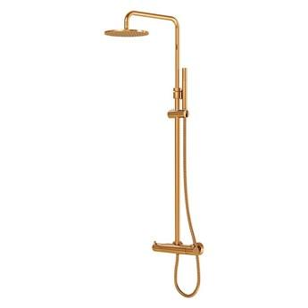Kolumna prysznicowa Steinberg Seria 100 2721, termostat, kolory, Różowe złoto