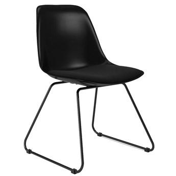 Krzesło Grace Liam 47x79 cm czarne siedzisko tkanina