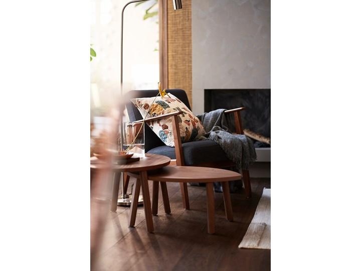 IKEA EKENÄSET Fotel, Hillared antracyt, Szerokość: 64 cm Głębokość 78 cm Bawełna Fotel inspirowany Wysokość 76 cm Drewno Tworzywo sztuczne Tkanina Stal Styl Skandynawski