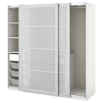 IKEA PAX / SVARTISDAL Kombinacja szafy, biały biały/imitacja papieru, 200x66x201 cm