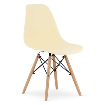 Krzesło Enzo Paris bukowe nogi kremowe