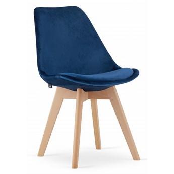 Krzesło DIOR welurowe velvet aksamit niebieskie