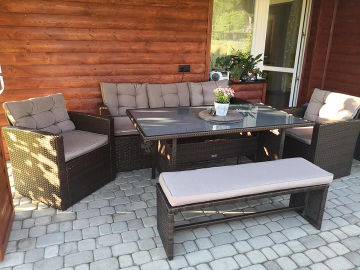 Meblobranie Komplet brązowych mebli technorattanowych Topiano Medio Zestawy wypoczynkowe Kategoria Zestawy mebli ogrodowych Zestawy obiadowe Zawartość zestawu Fotele
