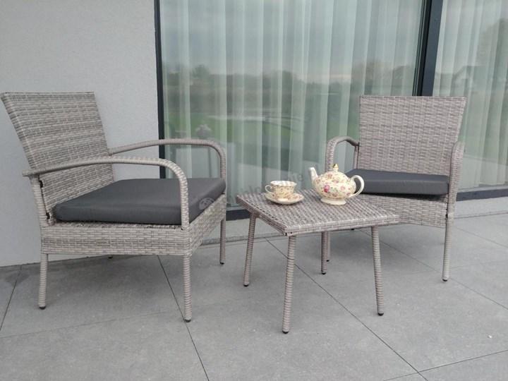 Meblobranie Komplet mebli na wąski balkon Morrone Duo Grey Zestawy kawowe Technorattan Liczba miejsc Dwuosobowy Stoły z krzesłami Kategoria Zestawy mebli ogrodowych
