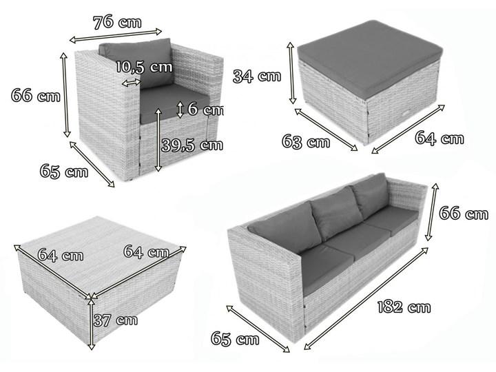 Meblobranie Duży komplet mebli tarasowych technorattanowych Stefano Set Max Antracite Liczba miejsc Pięcioosobowy Zestawy kawowe Zestawy wypoczynkowe Zawartość zestawu Fotele