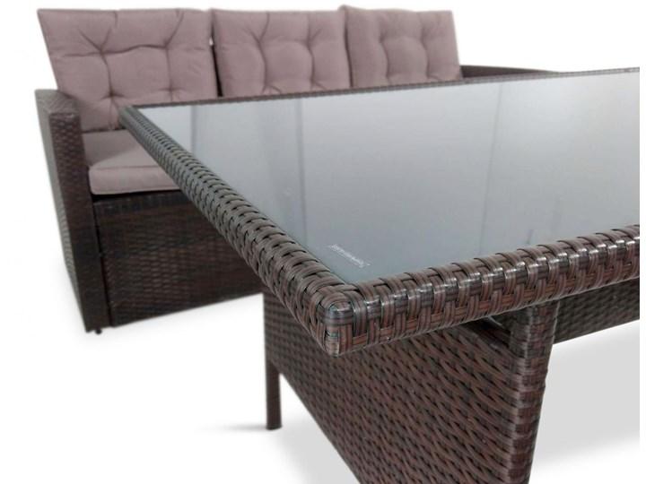 Meblobranie Komplet brązowych mebli technorattanowych Topiano Medio Zestawy obiadowe Zestawy wypoczynkowe Zawartość zestawu Fotele