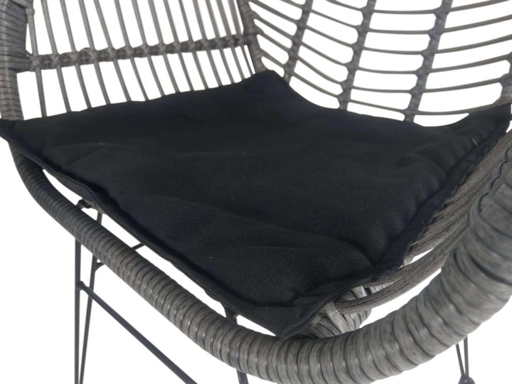 Meblobranie Nowoczesne meble balkonowe z technorattanu Torgiano Balcony Grey Stoły z krzesłami Zawartość zestawu Krzesła Zawartość zestawu Stolik
