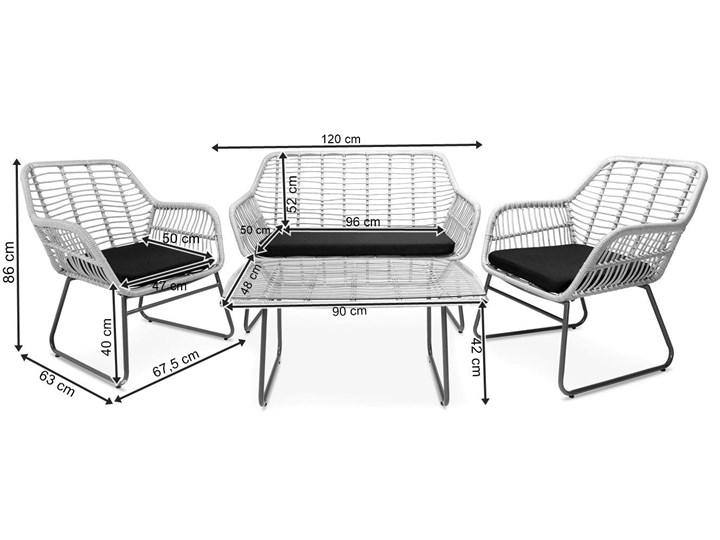 Meblobranie Szary zestaw rattanowy na balkon Torgiano Set Stoły z krzesłami Styl Nowoczesny Technorattan Zawartość zestawu Krzesła