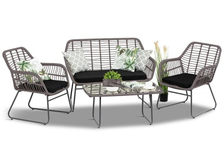 Meblobranie Szary zestaw rattanowy na balkon Torgiano Set Technorattan Stoły z krzesłami Zawartość zestawu Krzesła