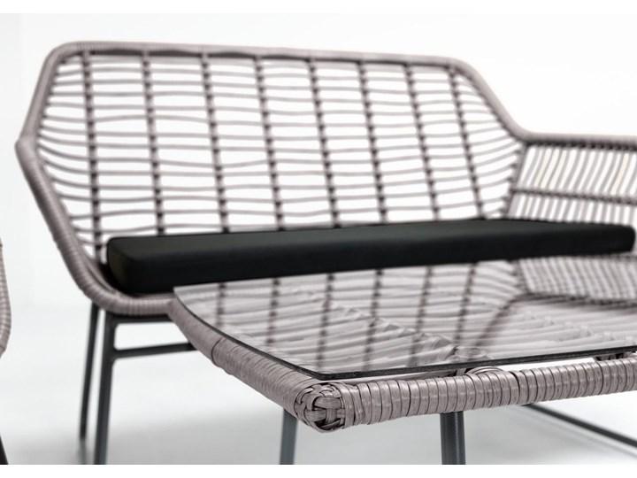 Meblobranie Szary zestaw rattanowy na balkon Torgiano Set Zawartość zestawu Krzesła Technorattan Stoły z krzesłami Zawartość zestawu Fotele