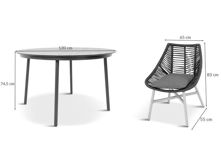 Komplet mebli Meblobranie z okrągłym stołem technorattan Almera Dining Black Zestawy obiadowe Zawartość zestawu Krzesła Aluminium Stoły z krzesłami Kategoria Zestawy mebli ogrodowych