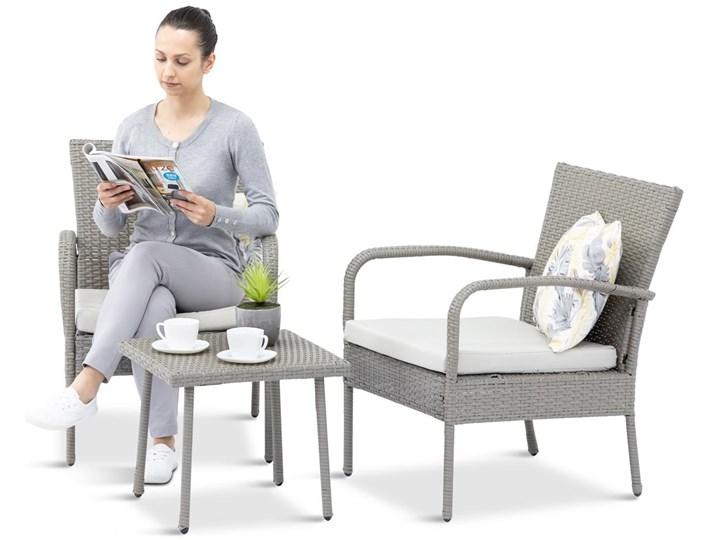 Meblobranie Fotele i stolik na niewielki balkon Morrone Duo Grey & Ivory Kategoria Zestawy mebli ogrodowych Zestawy kawowe Technorattan Styl Nowoczesny
