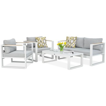Aluminiowe meble ogrodowe białe Meblobranie Panama