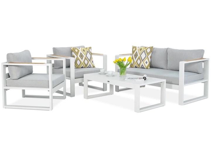 Aluminiowe meble ogrodowe białe Meblobranie Panama Drewno Zestawy wypoczynkowe Aluminium Zestawy kawowe Kolor Biały