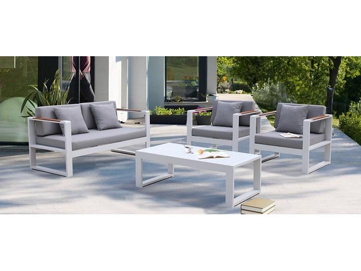 Aluminiowe meble ogrodowe białe Meblobranie Panama Drewno Aluminium Zestawy kawowe Zestawy wypoczynkowe Zawartość zestawu Sofa