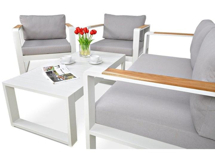 Aluminiowe meble ogrodowe białe Meblobranie Panama Aluminium Drewno Zestawy wypoczynkowe Zestawy kawowe Kolor Biały