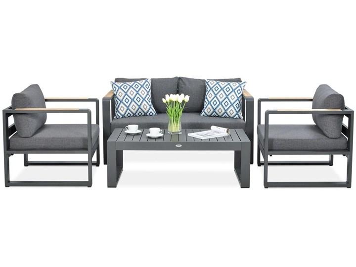 Aluminiowy komplet wypoczynkowy Meblobranie na taras Panama Grey Aluminium Zawartość zestawu Fotele
