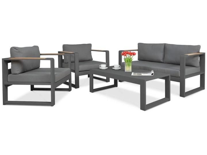 Aluminiowy komplet wypoczynkowy Meblobranie na taras Panama Grey Aluminium Zawartość zestawu Stolik Zawartość zestawu Fotele