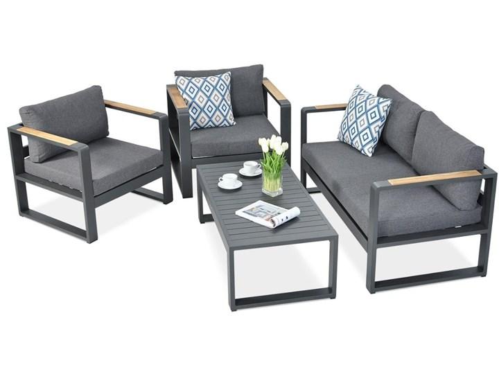 Aluminiowy komplet wypoczynkowy Meblobranie na taras Panama Grey Aluminium Kolor Szary Zawartość zestawu Fotele